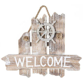 Nautical Welcome Wood Wall Decor - Artisticspacedecor