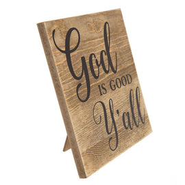 God Is Good Y'all Wood Decor. FREE SHIPPING - Artisticspacedecor