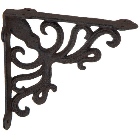 Octopus Cast Iron Wall Shelf Brackets Nautical Beach House Decor.SET OF TWO - Artisticspacedecor