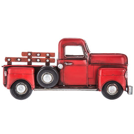 Red Half Truck Metal Wall Decor. Great Gift - Artisticspacedecor