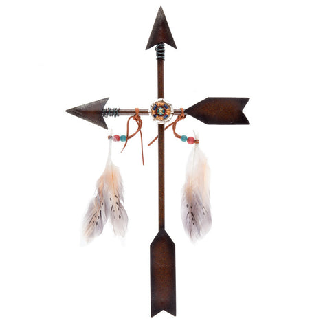Arrow Cross Metal Wall Decor. Unique Gift - Artisticspacedecor