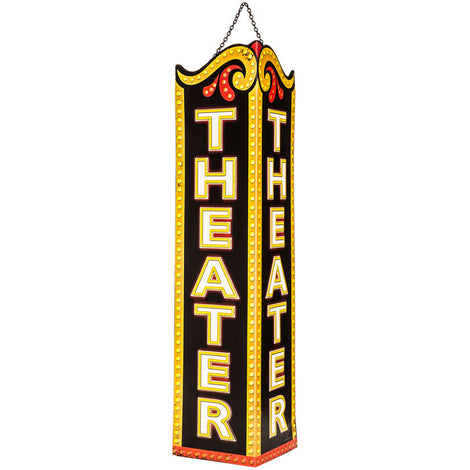 Theater Triangle Embossed Metal Sign Special Broadway Home Bar Wall Decor - Artisticspacedecor