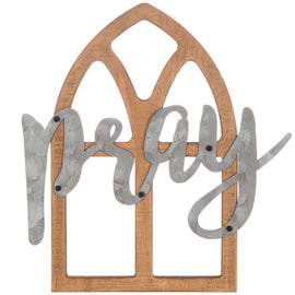 Pray Window Rustic Wood Decor - Artisticspacedecor