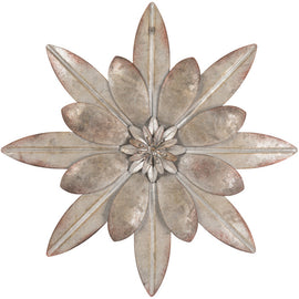 Galvanized Metal Flower Wall Decor. SET OF TWO - Artisticspacedecor