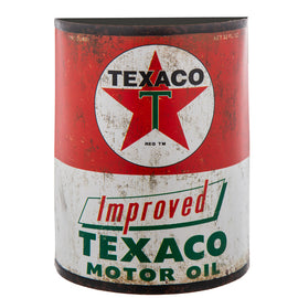 Texaco Half Oil Can Metal Wall Decor. FREE SHIPPING - Artisticspacedecor