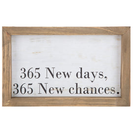 365 New Days, 365 New Chances Wood Wall Decor - Artisticspacedecor