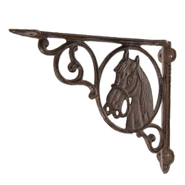 Horse Head Metal Bracket. SET OF TWO. FREE SHIPPING - Artisticspacedecor