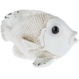 Antique White Fish Decor. Home Decor. FREE SHIPPING - Artisticspacedecor