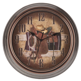 Cowboy Wall Clock  western Decor - Artisticspacedecor