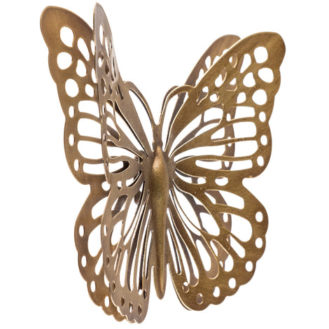 Gold Metal Butterfly Wall Decor - Artisticspacedecor