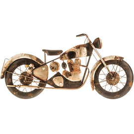 Rustic Metal Motorcycle Wall Decor. FREE SHIPPING - Artisticspacedecor