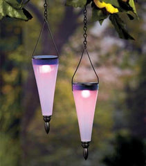 Changing  Colors Solar Lanterns ~ Outdoor Hanging Garden Lighting Lights Set of 2 Color