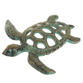 Metal Turtle Turquoise Coastal Home Accent - Artisticspacedecor