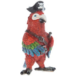 Pirate Parrot Bird Statue Figurine Cute & Colorful Home Decor. Add personality. FREE SHIPPING