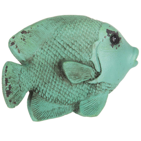 Turquoise Rustic Fish Nautical Home Decor. FREE SHIPPING - Artisticspacedecor