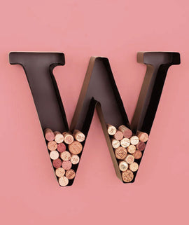 Metal Monogram -W-Wine Cork Holders. FREE SHIPPING - Artisticspacedecor