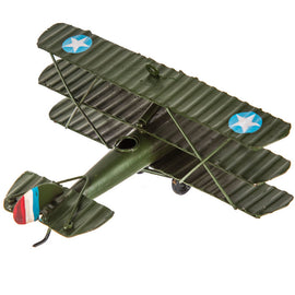 Green Sopwith Tri-Level Plane With Stars. FREE SHIPPING. - Artisticspacedecor