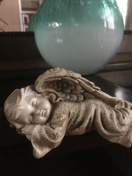 Sleeping Cherub Angel Decorative  Indoor Outdoor Garden Statue. FREE SHIPPING - Artisticspacedecor