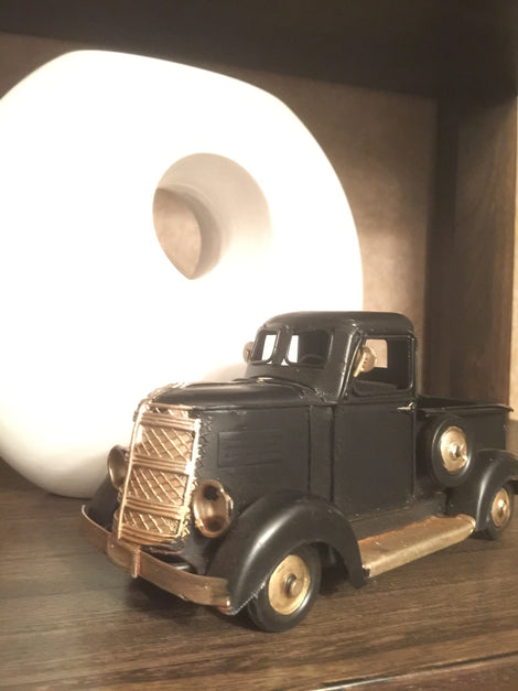 Black Metal Truck, nostalgic focal point! Accent. VINTAGE LOOK HOME DECOR - Artisticspacedecor