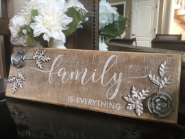 Family is Everything Wall Sign. expresses the love and bond shared by a family - Artisticspacedecor