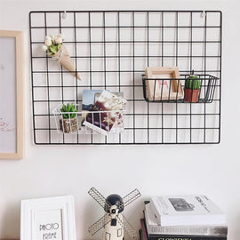 Simple Solid Color Iron Square Grid Photo Wall - Artisticspacedecor