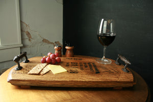 Bourbon Barrel Serving Tray