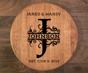 Custom Handpainted Bourbon Barrel Head