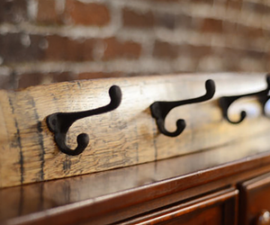 Bourbon Barrel Coat Rack - Large