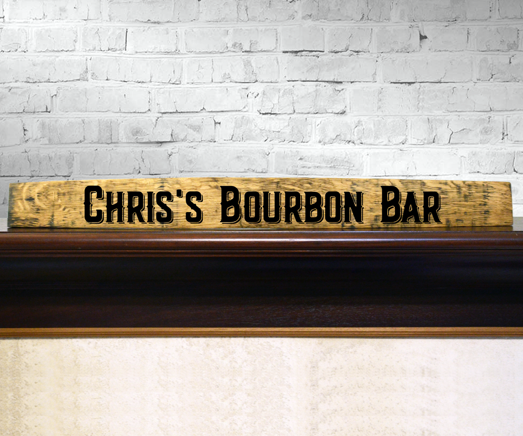 Bourbon Bar Handpainted Barrel Stave