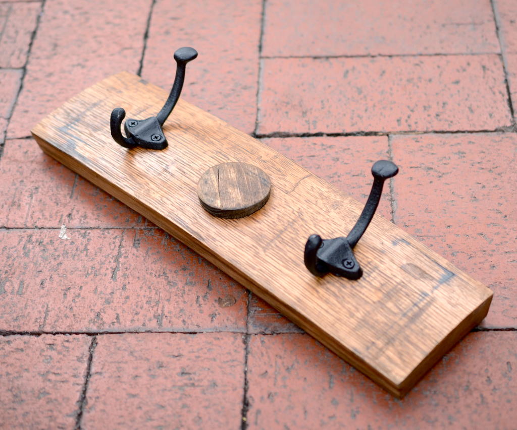 Bourbon Barrel Coat Rack - Small