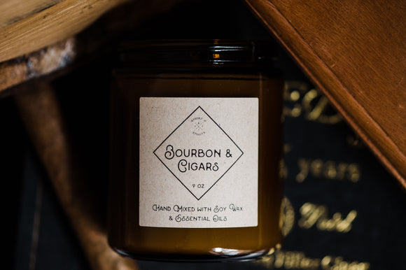 Bourbon + Cigars Cocktail Candle