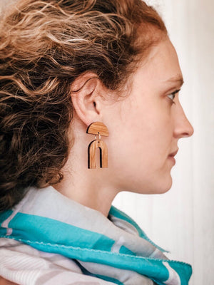 The Eleanor Bourbon Barrel Earring
