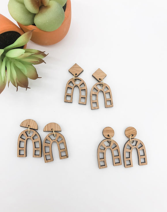 The Penelope - Bourbon Barrel Earrings