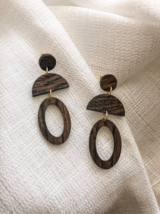 The Vivian - Lightweight Bourbon Barrel Earrings
