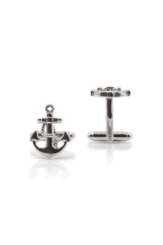 Anchor Cufflinks - Silver