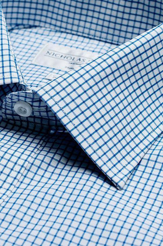 Collar of Edinburgh Classic Double Cuff Men's Business Shirt