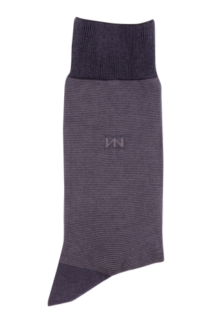 Egyptian Cotton Socks - Grey Stripe