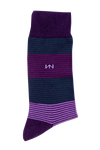 Egyptian Cotton Socks - Purple Stripe