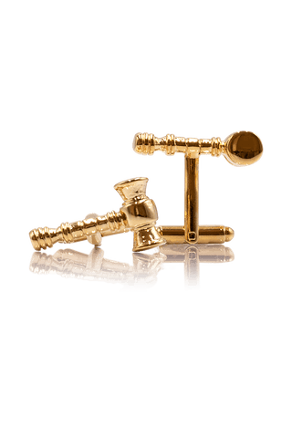 Gavel Cufflinks - Gold