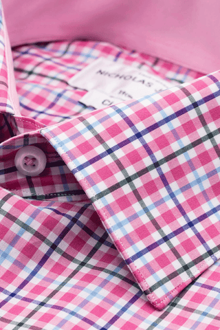 Mackelvie Check Pink - Classic - Single Cuff