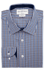 Hudson Check Slim Fit Single Cuff Men's Business Shirt