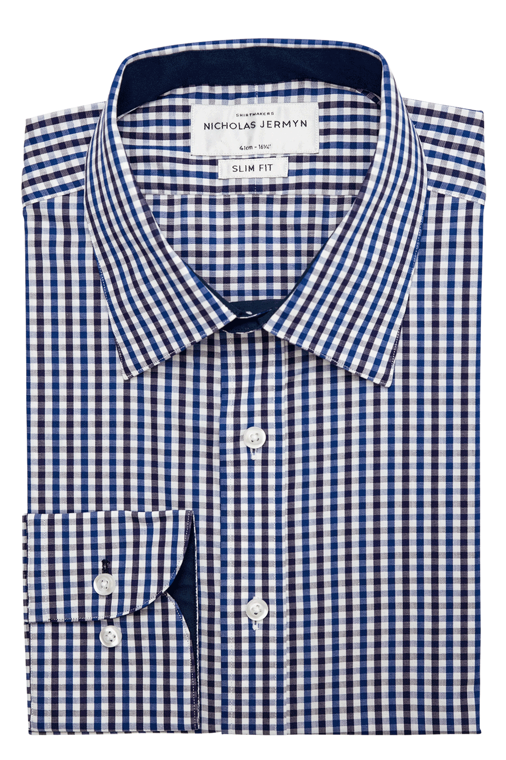 Hudson Check - Slim Fit - Single Cuff