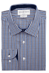 Hudson Check Super Slim Single Cuff Men's Business Shirt