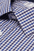 Collar of Hudson Check Slim Fit Single Cuff Men's Business Shirt