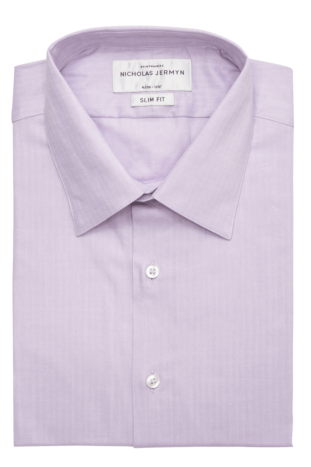Bauer Herringbone Classic Single Cuff Mens Business Shirt