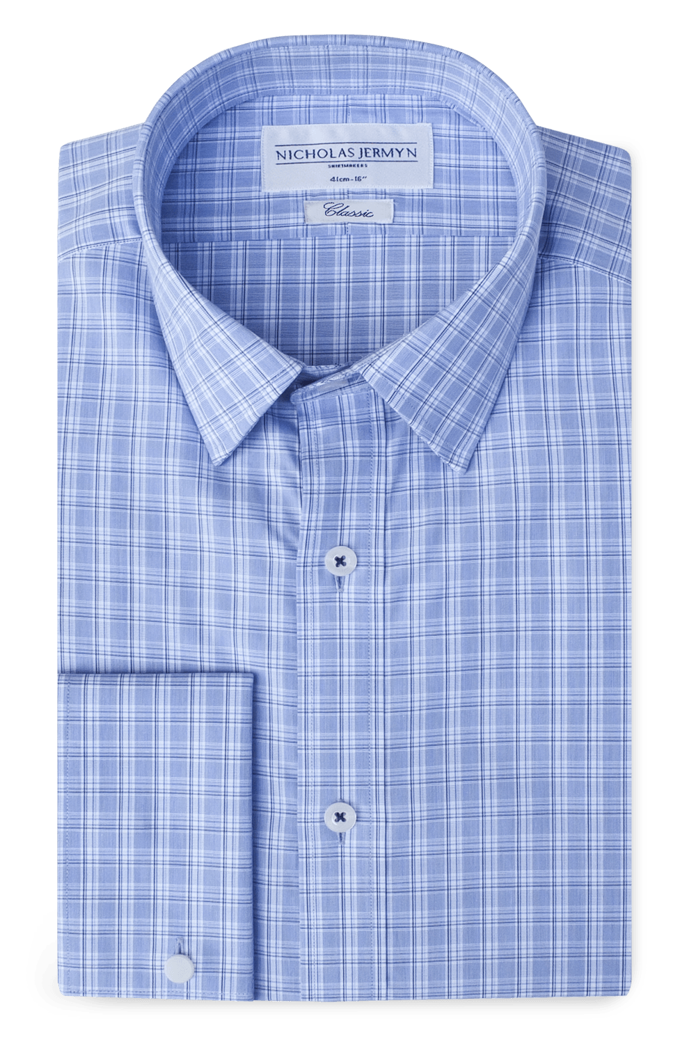 Lawrence Check Classic Double Cuff Men's Business Shirt