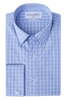 Lawrence Check Super Slim Double Cuff Men's Business Shirt