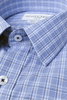 Collar of Lawrence Check Classic Double Cuff Men's Business Shirt