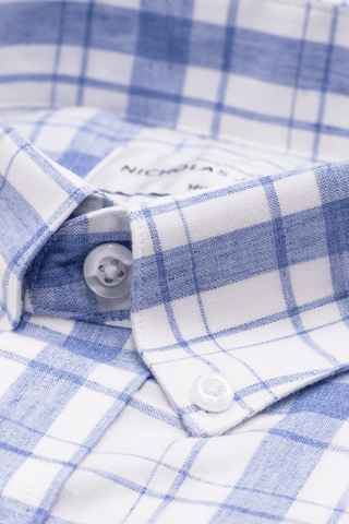 Aoraki Plaid Blue - Super Slim