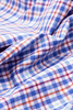 Mackelvie Check Blue - Slim Fit - Single Cuff